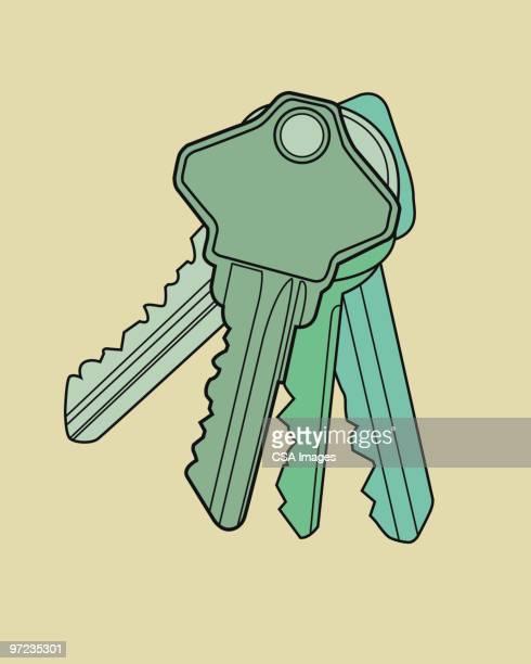 keys - lock stock illustrations