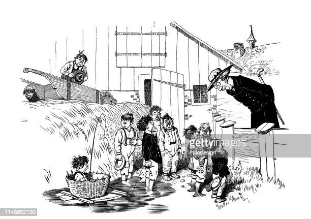 kids are talking to the pastor - 1896 stock illustrations, clip art, cartoons, & icons