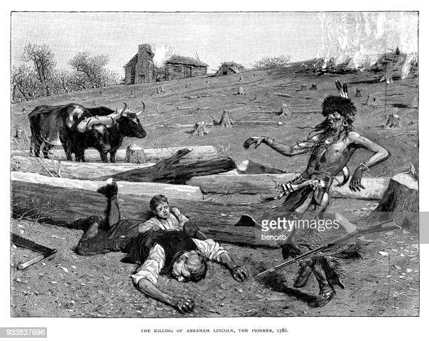 Killing of Captain Abraham Lincoln (Grandfather of Abraham Lincoln the president of the United States) in 1786