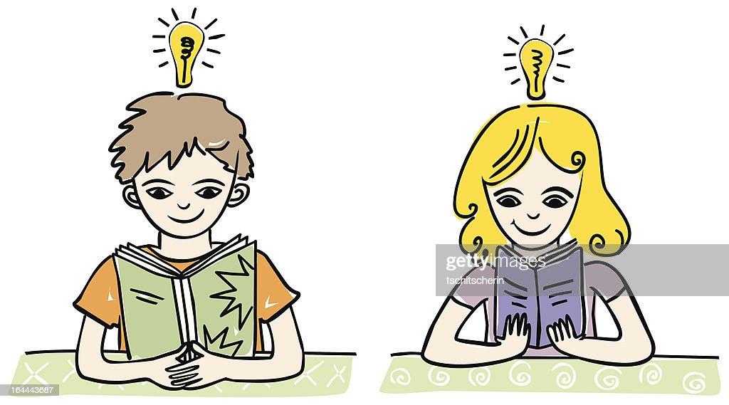 Kinder lesen Buch