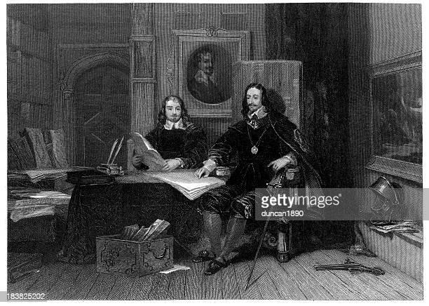 King Charles I and Hyde at Oxford