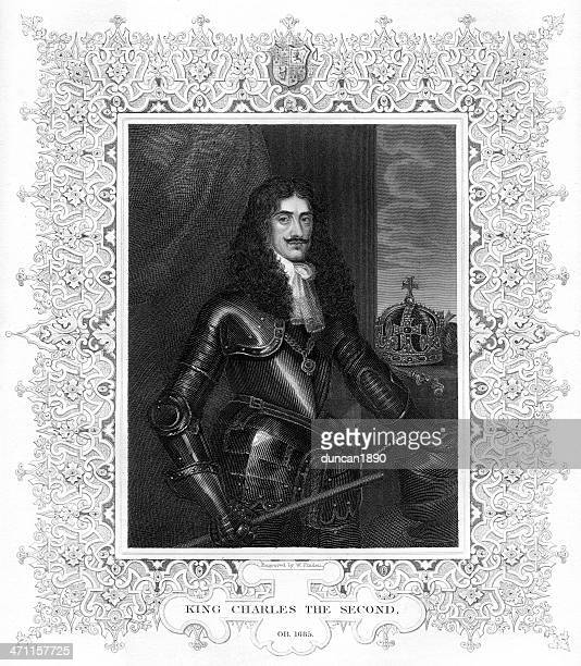 king charles ii of england - cavalier cavalry stock illustrations, clip art, cartoons, & icons