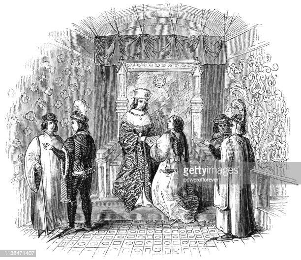 King Edward IV with his Court at Eltham Palace in London, England - 15th Century
