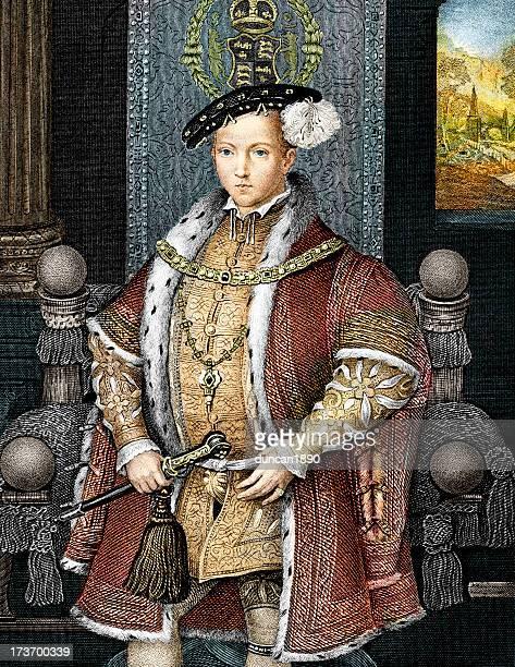 king edward der sechsten - prinz königliche persönlichkeit stock-grafiken, -clipart, -cartoons und -symbole