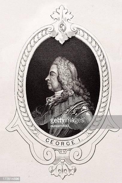 king george i - hanover new hampshire stock illustrations