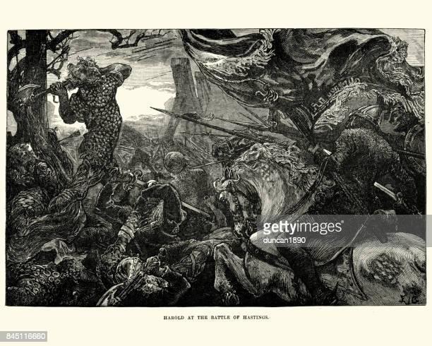 Rey Harold en la batalla de Hastings, 1066