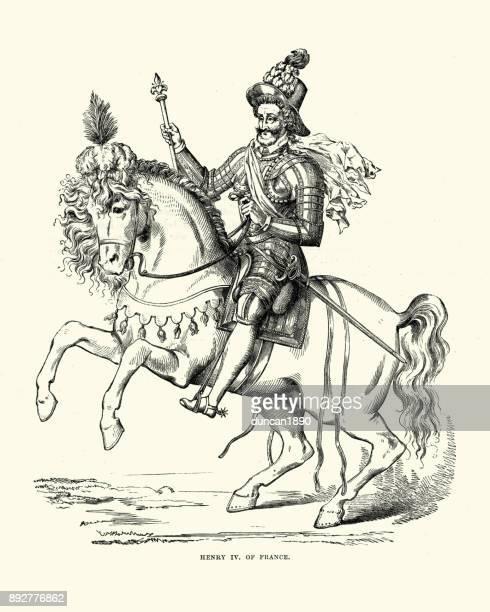 king henry iv of france - henri iv of france stock illustrations