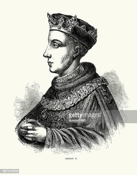 king henry v - henry v of england stock illustrations, clip art, cartoons, & icons