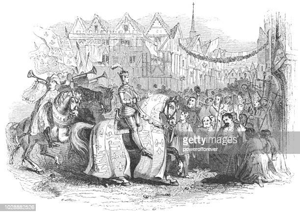 King Henry V Returning to London after Victory in the Battle of Agincourt - Works of William Shakespeare