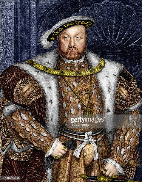 king henry viii - traditional clothing stock illustrations