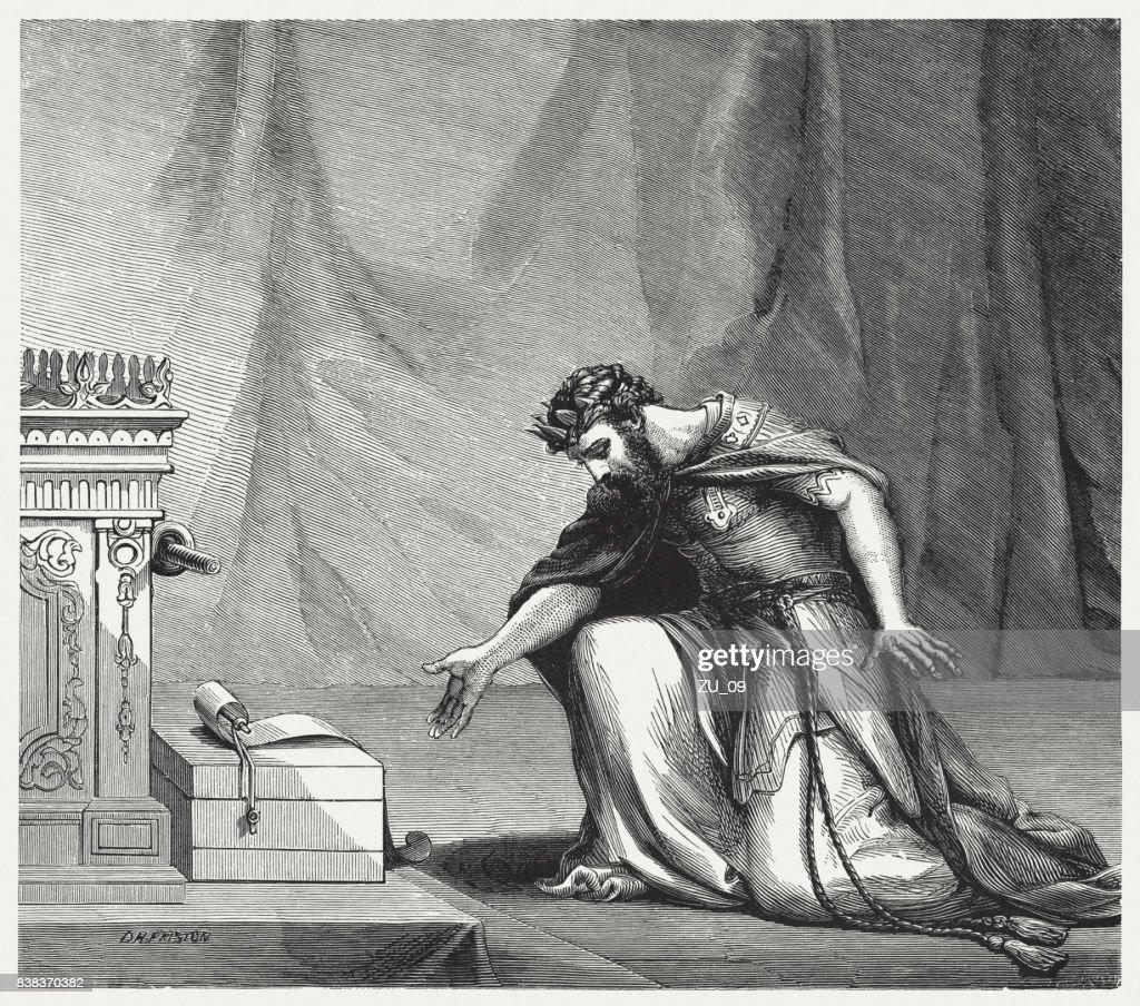 King Hezekiah And The Letter Of Sennacherib High-Res