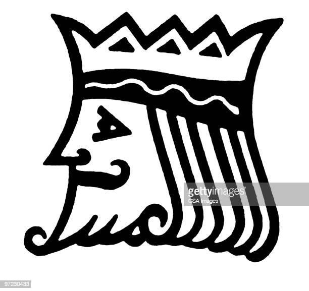 king - ruler stock illustrations