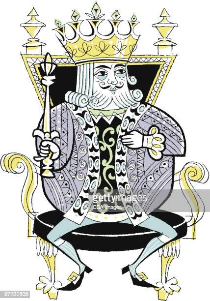 king - throne stock illustrations