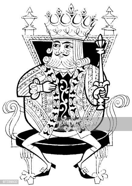 king - emperor stock illustrations, clip art, cartoons, & icons