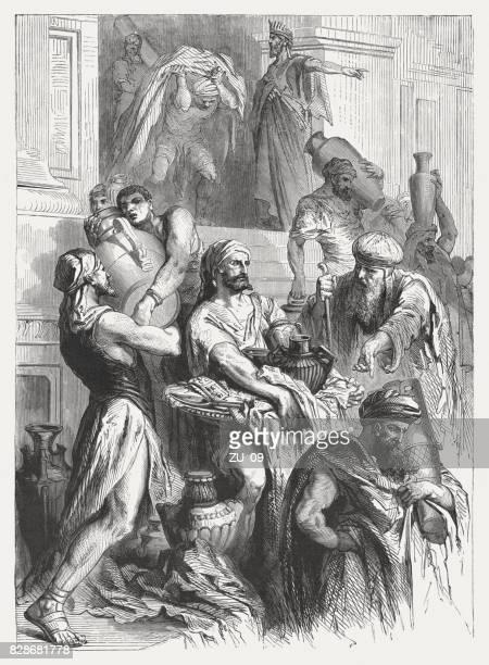 ilustrações, clipart, desenhos animados e ícones de rei josiah libertos judá da idolatria (2 crônicas 34) - reforma assunto