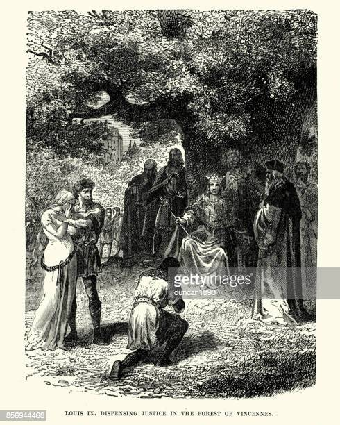King Louis IX dispensing justice in the Forest of Vincennes