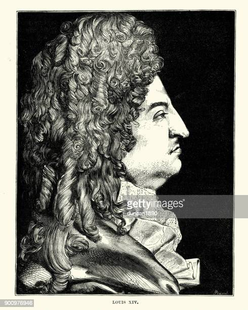 king louis xiv of france - louis xiv of france stock illustrations, clip art, cartoons, & icons