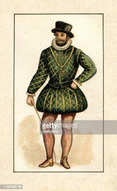 king of france henry iv portrait - henri iv of france stock illustrations