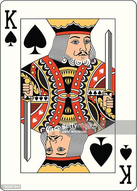 king of spades two playing card - king stock illustrations