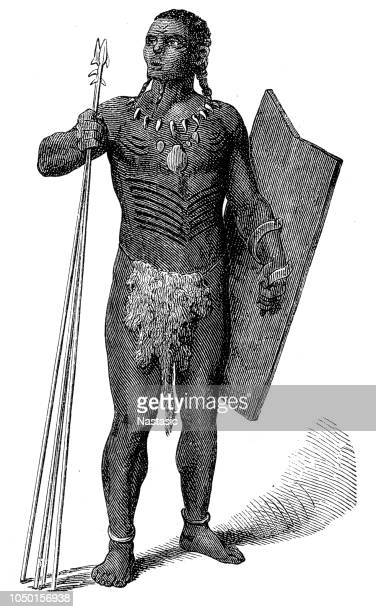 King of the cannibals engraving
