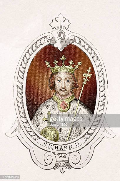 king richard ii - king royal person stock illustrations, clip art, cartoons, & icons