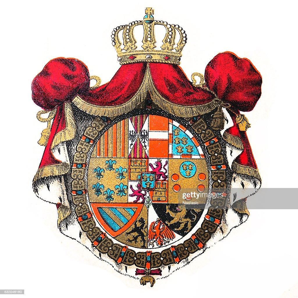 Kingdom of Spain emblem : stock illustration