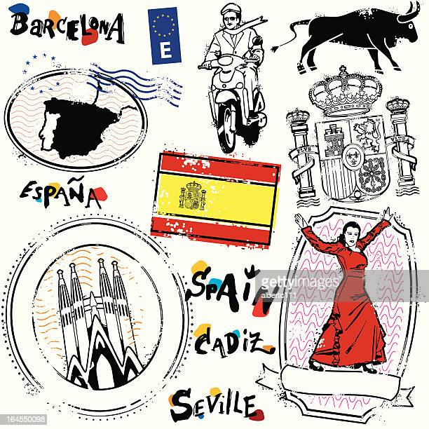 reino de espana - seville stock illustrations, clip art, cartoons, & icons