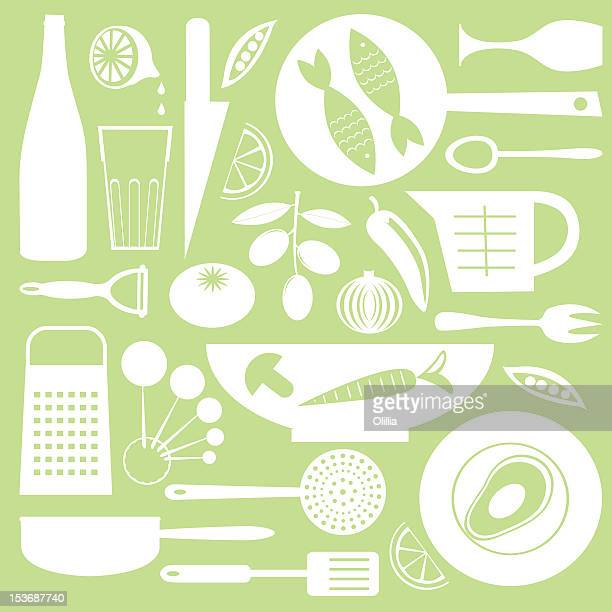 kitchen collection - bean stock illustrations