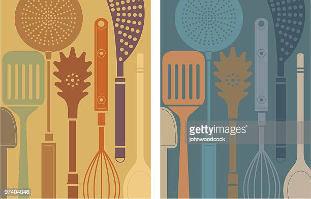 kitchen tools. - cooking utensil stock illustrations, clip art, cartoons, & icons