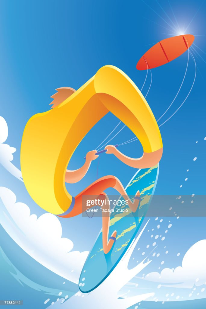 Kite surfing : Illustration