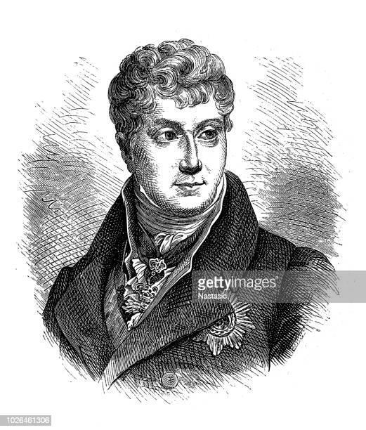 klemens wenzel nepomuk lothar, prince von metternich-winneburg zu beilstein (15 may 1773 – 11 june 1859) was an austrian diplomat and statesman - 1900 1909 stock illustrations