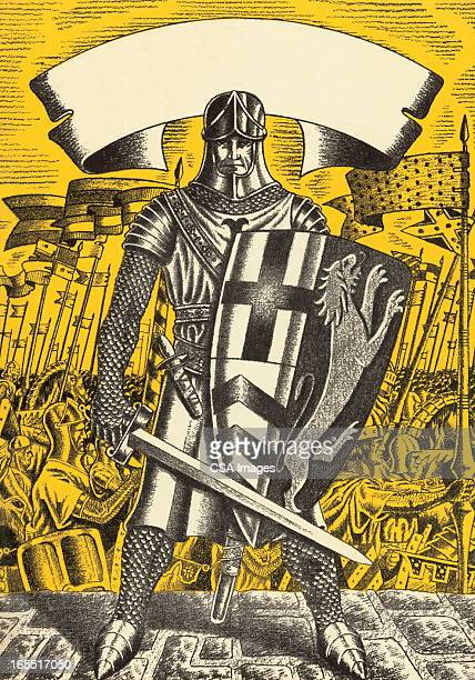 Knight with Shield and Sword