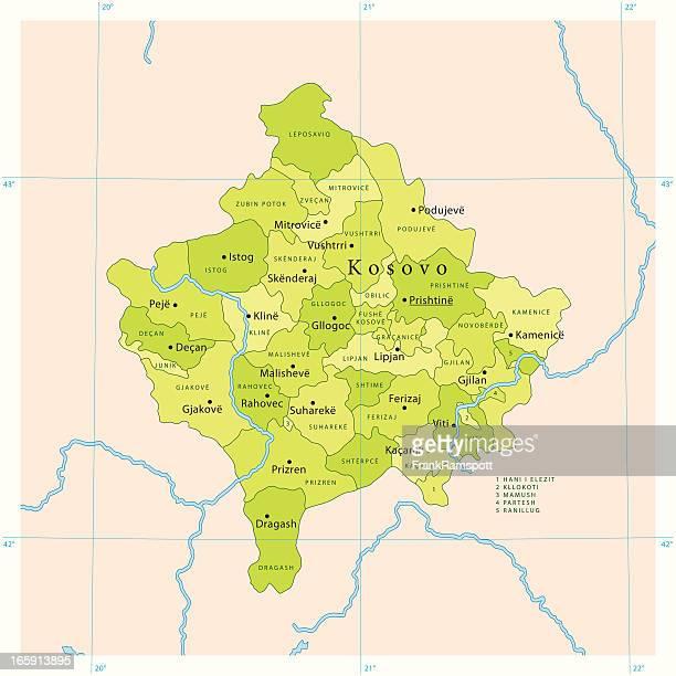 Kosovo Vector Map