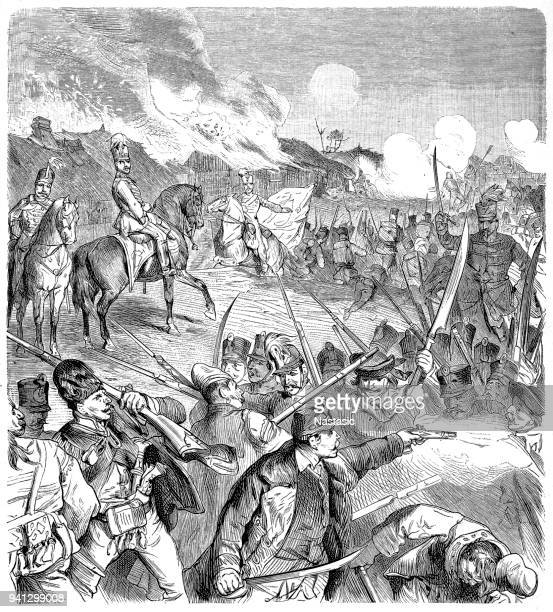 kossuth leads his fellow hungarians in the fight for independence against the austro-russian forces 1849 - governor stock illustrations, clip art, cartoons, & icons