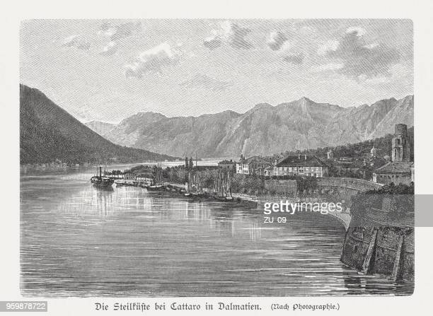 Kotor (Cattaro) in Dalmatia (today Montenegro), wood engraving, published 1897