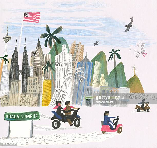 Kuala Lumpur city illustration