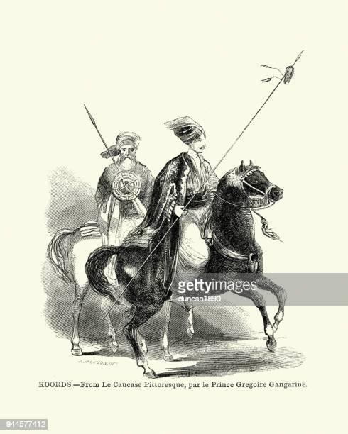 Kurdish warriors, 19th Century