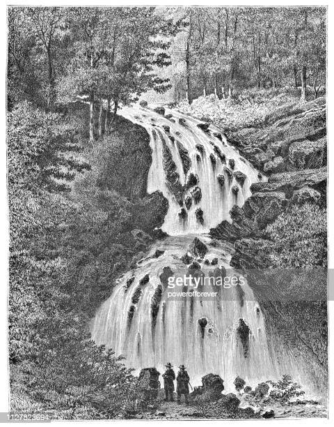 La Cascade de Faymont in Le Val-d'Ajol, France - 19th Century