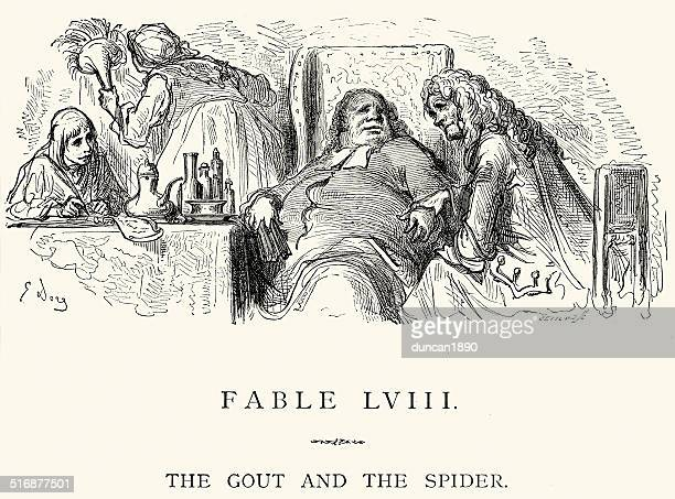La Fontaine's Fables - Gout and the Spider