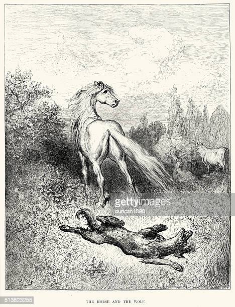 La Fontaine's Fables - Horse and the Wolf