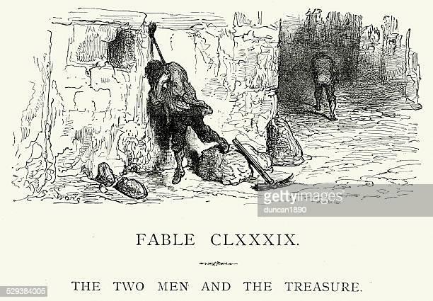 La Fontaine's Fables - Two Men and the Treasure