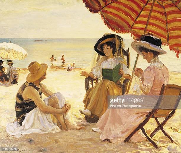 la plage - 1900 1909 stock illustrations
