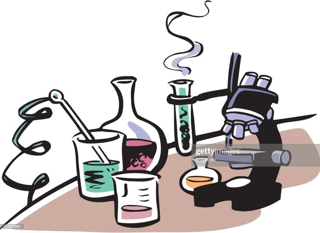 Lab equipment : Illustration