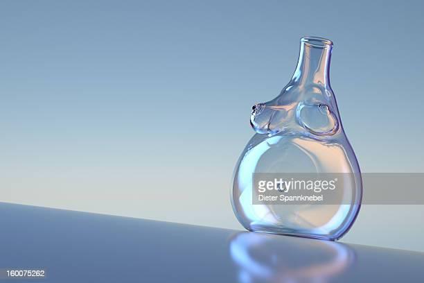 laboratory glass in shape of a pregnant woman body - 人工授精点のイラスト素材/クリップアート素材/マンガ素材/アイコン素材