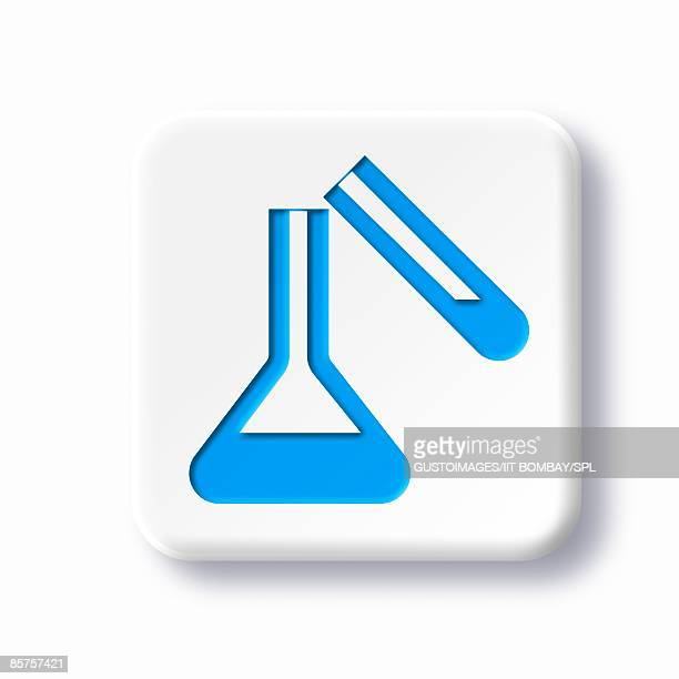 Laboratory symbol against white background