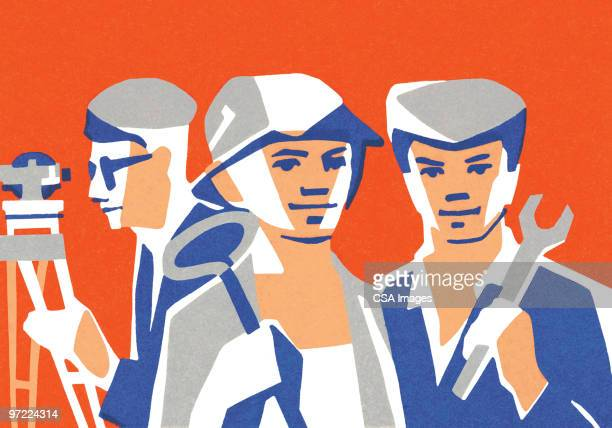 laborers - only men stock illustrations, clip art, cartoons, & icons