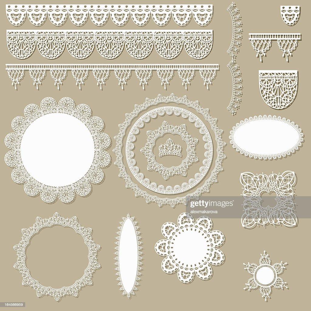 lacy scrapbook design elements