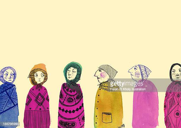 ladies gossiping - sneering stock illustrations, clip art, cartoons, & icons