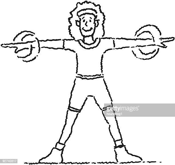 lady exercising - anaerobic stock illustrations, clip art, cartoons, & icons