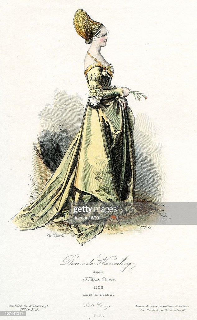 Lady of Nuremberg : stock illustration